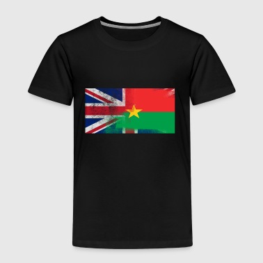 British Burkinabe Half Burkina Faso Half UK Flag - Kids' Premium T-Shirt