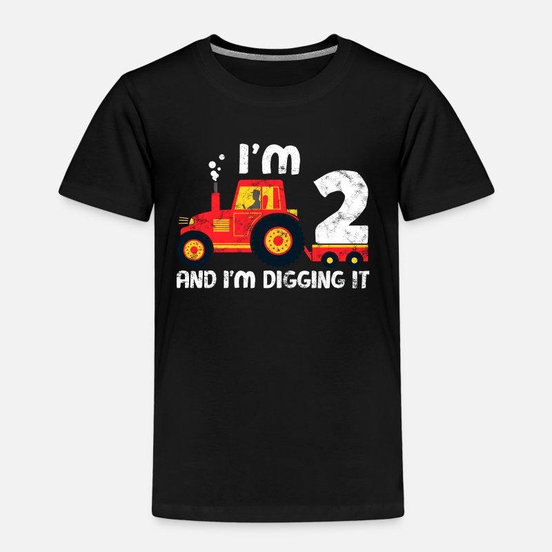 Traktor Geburtstag Shirt Ich Liebe Es 2 Zu Sein Kinder Premium T