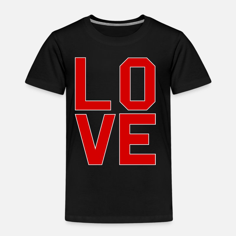 Valentine's Day T-Shirts - LOVE Sells - Kids' Premium T-Shirt black
