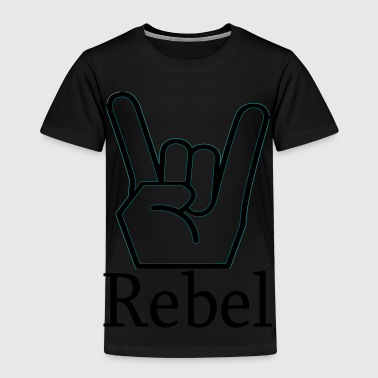 REBEL / hand sign - Kids' Premium T-Shirt