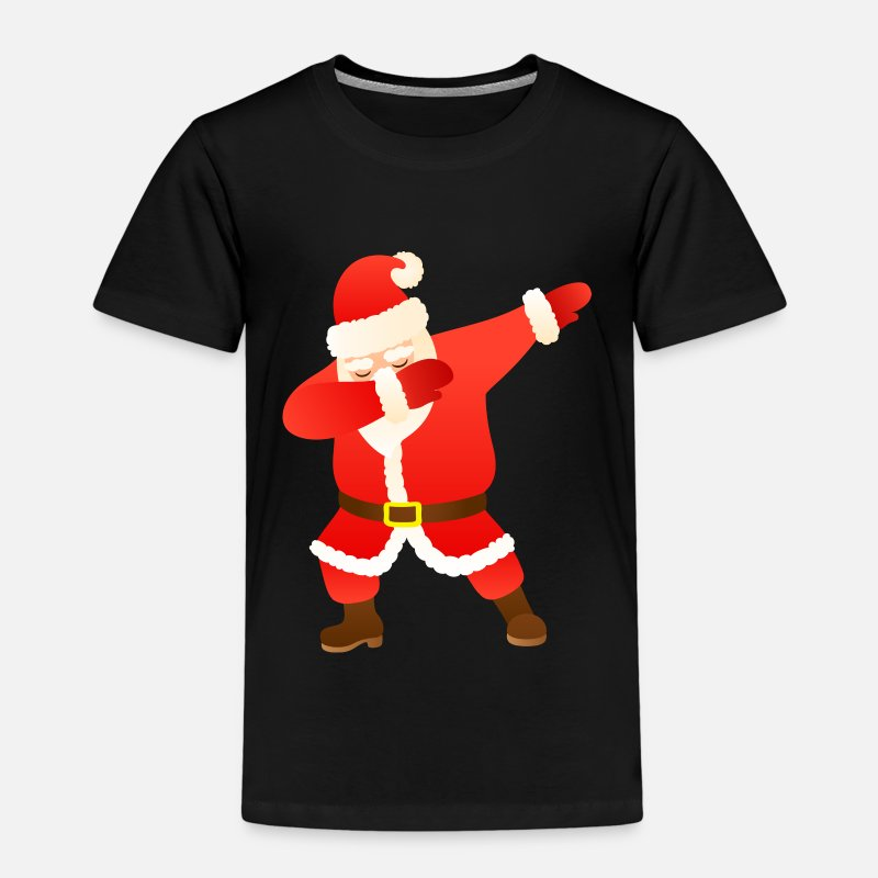 Christmas T-shirts - Santa Dab Dance Illustration | Christmas Gift - Premium T-shirt barn svart
