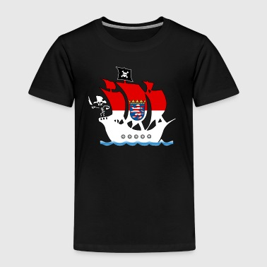 piratenschiff hessen - Kinder Premium T-Shirt