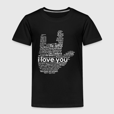 Foreign Language Love In Every Language American Sign Language ASL - Kids' Premium T-Shirt