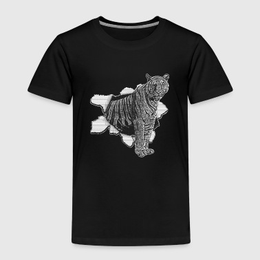3d Animaux Tigre Tiger Tiger Zoo Animal 3D effet - T-shirt Premium Enfant