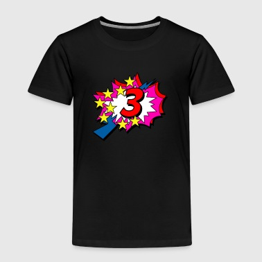 POP Star is 3 years old - Kids' Premium T-Shirt