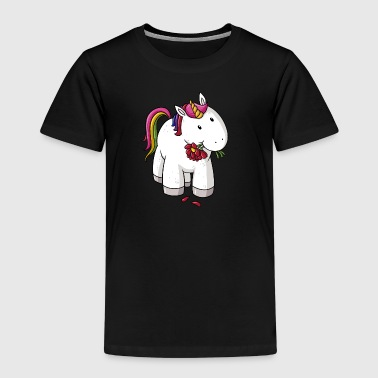 Sweet comic unicorn rainbow - Kids' Premium T-Shirt