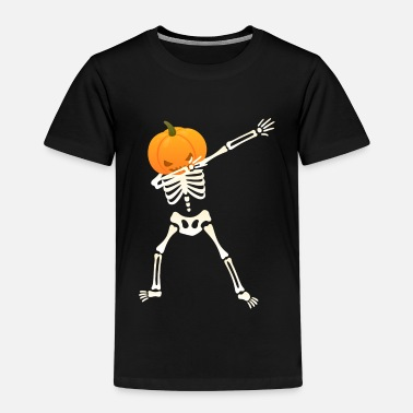 Funny Dabbing Skeleton Pumpkin - Dab Dance Halloween Design - Kids' Premium T-Shirt