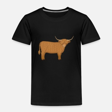 Highland Cow Highland cattle looking - Kids' Premium T-Shirt