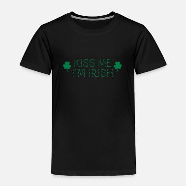 St Patricks Day kiss me i'm irish dotted / shamrock / st paddy's - T-shirt Premium Enfant