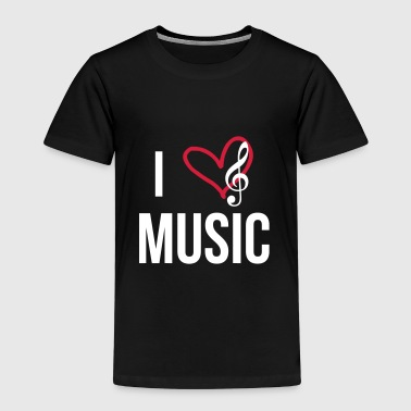 I Love Music I Love Music - Premium T-skjorte for barn
