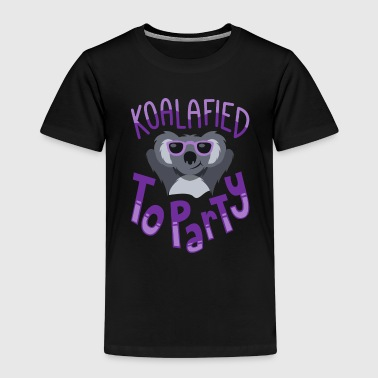 Koalafied to Party Koala Spruch Lustig Bachelor - Kinder Premium T-Shirt