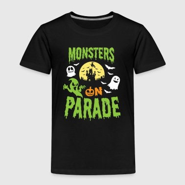 Halloween Shirt Monsters On Parade Spooky Gift Tee - Kids' Premium T-Shirt