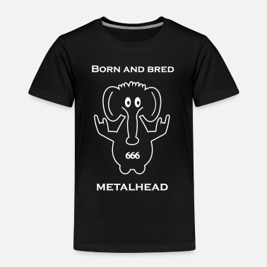 Born And Bred Metalhead BnBM logo_ black collection - Kids' Premium T-Shirt