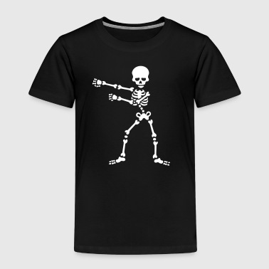 The floss dance flossing backpack boy kid skelet - Kinderen Premium T-shirt