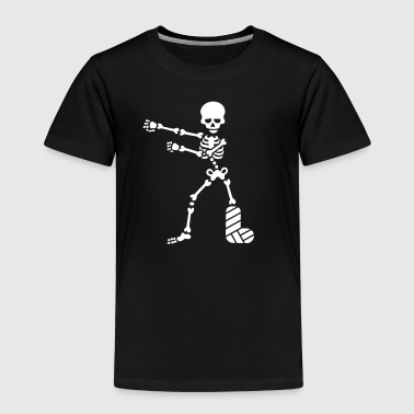 Broken leg plaster floss dance flossing skeleton - Kids' Premium T-Shirt