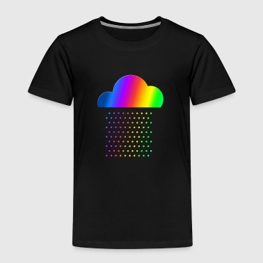 Colorful Weather - We love rain! rainbow cloud gay - Kinderen Premium T-shirt