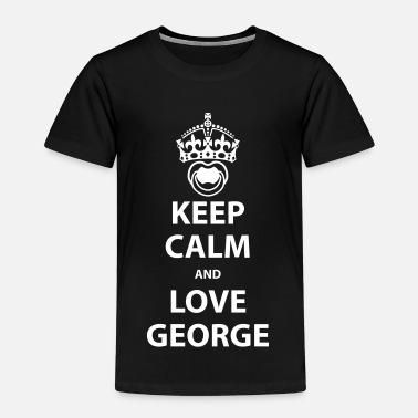 Boy George Keep calm and love George - Kinder Premium T-Shirt