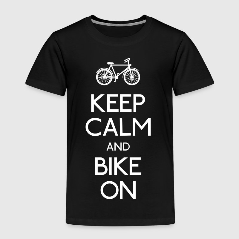 keep calm bike holde ro sykkel - Premium T-skjorte for barn