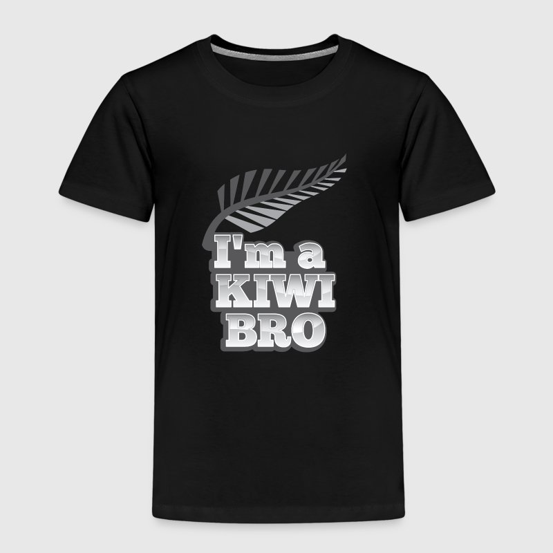 I'm a KIWI BRO with silver fern New Zealand - Kids' Premium T-Shirt