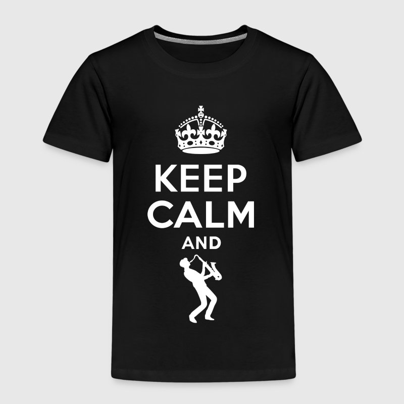 Keep Calm - Saxophon spielen 2 - Kinder Premium T-Shirt