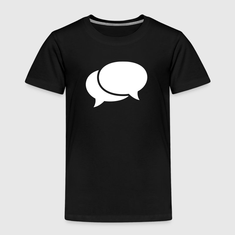 speech bubbles snakkebobler - Premium T-skjorte for barn