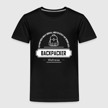 Backpacker Design World Travel Backpack Backpacker Design - Kids' Premium T-Shirt