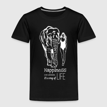Elefant Happiness Frau Natur - Kinder Premium T-Shirt