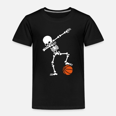 Dabbing Dab dabbing skeleton football basketball - Camiseta premium niño