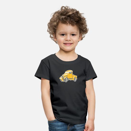 Yellow T-Shirts - lustiger Pickup für Kids - Kids' Premium T-Shirt black