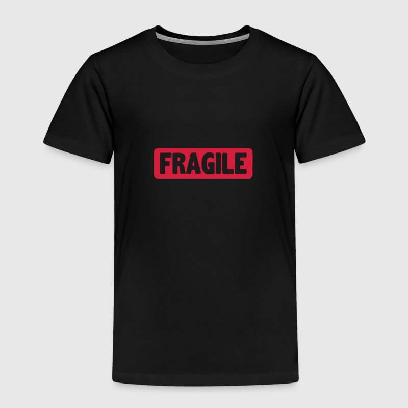 Fragile word board sign - Kids' Premium T-Shirt