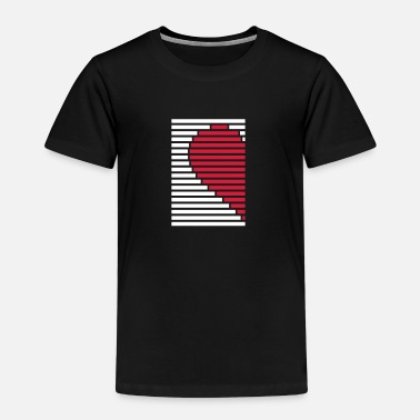 Pointing Left heart partner shirt left - Kids' Premium T-Shirt
