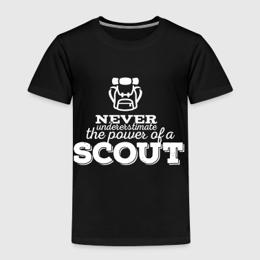 Never underestimate the power of a scout - Kinder Premium T-Shirt