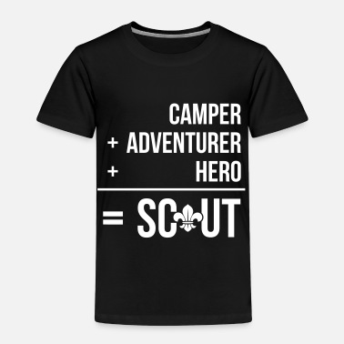 Camp Scout Camper+adventurer+hero = Scout - T-shirt Premium Enfant