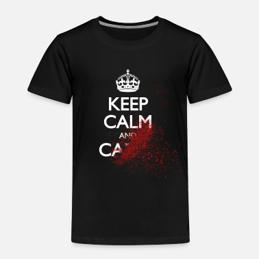 Blood Splatter keep calm and carry on blood splatter - Kids' Premium T-Shirt