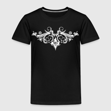 Filigree flowers and baroque ornament. - Kids' Premium T-Shirt