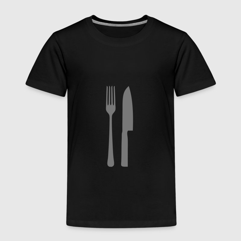 fourchette couteau manger table - T-shirt Premium Enfant