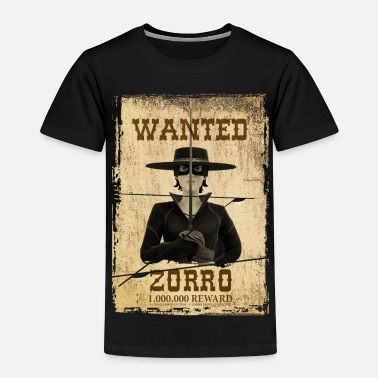 Zorro Zorro The Chronicles Wanted Poster - Camiseta premium niño