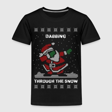 Funny Ugly Christmas Dabbing Through The Snow  - Kids' Premium T-Shirt
