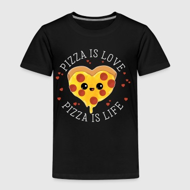 Pizza is love Pizza is life - Salami Pizza Liebe - Kinderen Premium T-shirt