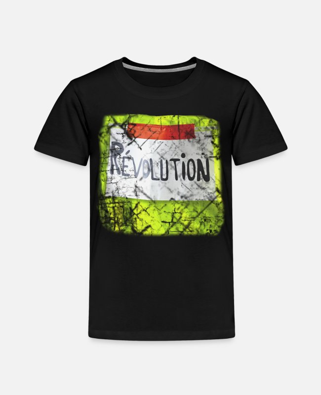 Surveillance State T-Shirts - yellow vest yellow vests # yellow west # giletsjaunes - Kids' Premium T-Shirt black