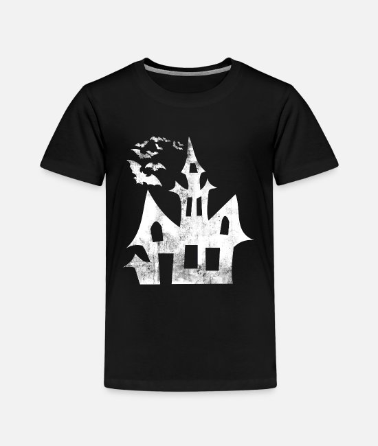 Witches Broom T-Shirts - Halloween haunted house - Kids' Premium T-Shirt black