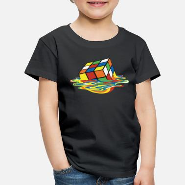 Rubik's Cube Melted Colourful Puddle - Kinderen premium T-shirt
