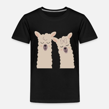Llama couple couple love relationship - Kids' Premium T-Shirt