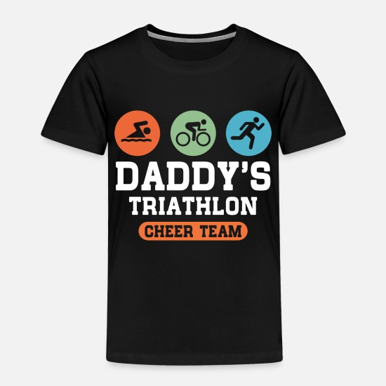 Triathlon T-Shirts - Triathlon Daddy - Kinder Premium T-Shirt Schwarz