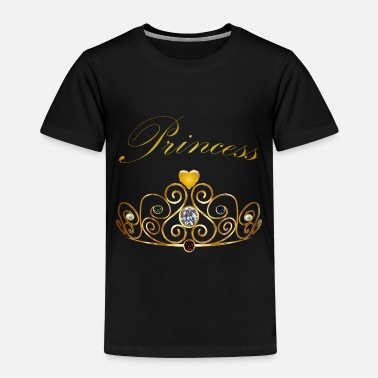 Princess Queen Gold Crown Tiara Gems Beads - Kids' Premium T-Shirt