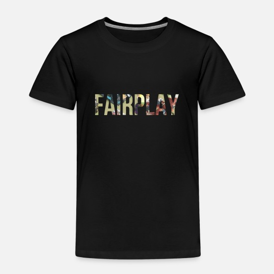 Shock T-Shirts - Fair play - Kids' Premium T-Shirt black