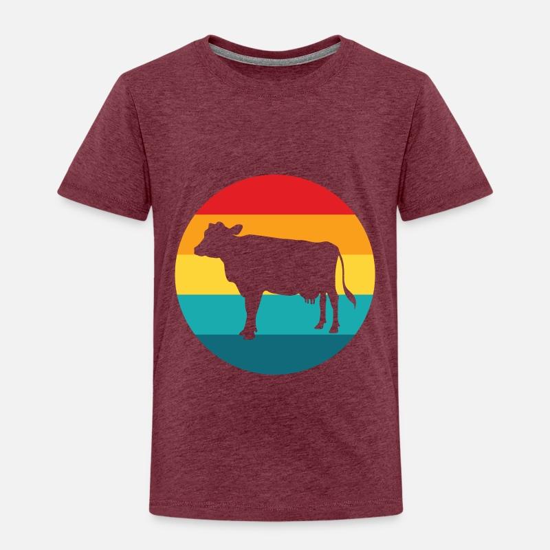 Ku med brune flekker Langarmet baby T skjorte | Spreadshirt