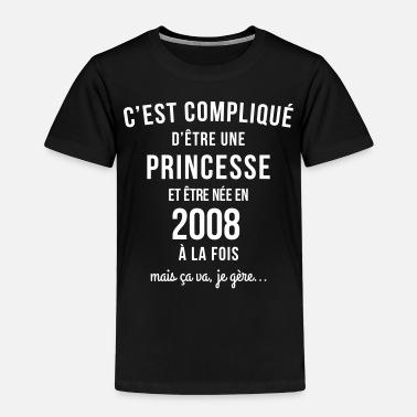 1a3d954a70ede tee shirt année naissance 2008 anniversaire - T-shirt premium Enfant