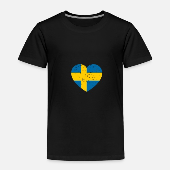 Love T-Shirts - Swedish heart - Kids' Premium T-Shirt black
