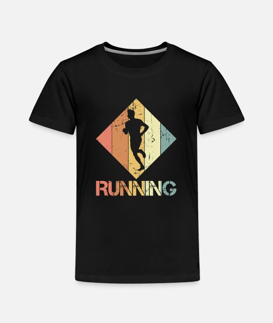 Training T-Shirts - to jog - Kids' Premium T-Shirt black